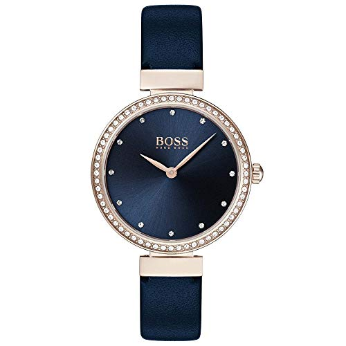 BOSS Women's Analogue Classic Quartz Watch with Leather Strap 1502477