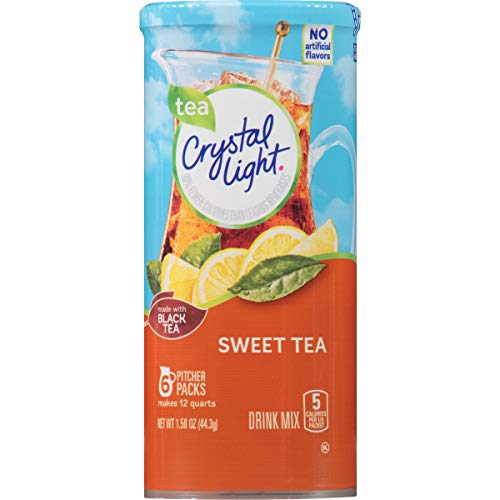 Crystal Light Sweet Tea, 12-Quart 1.56-Ounce Canister (Pack Of 12)