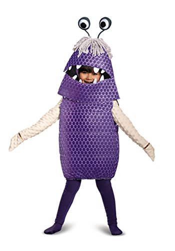 Monster Costumes - Boo Deluxe Toddler Costume, Purple, Medium (3T-4T)