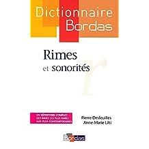 Dictionnaire Rimes et sonorités
