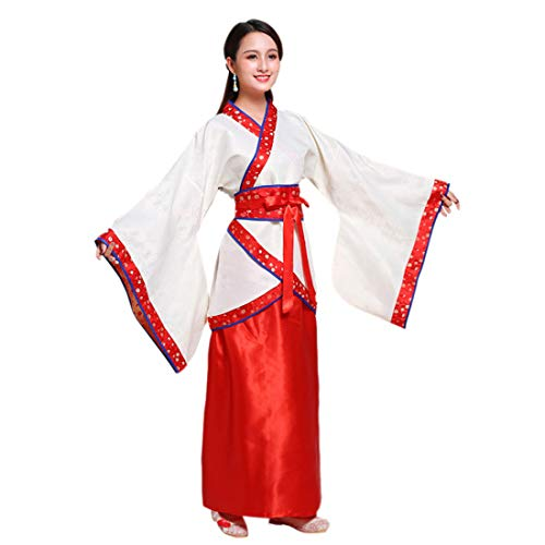 Ez-sofei Women's Ancient Chinese Traditional Hanfu Dress Han Dynasty Cosplay Costume (XL, -
