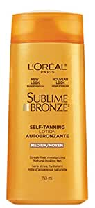 L'Oreal Paris Sublime Bronze Self Tanning Lotion, 150-Milliliter - Product packaging may vary