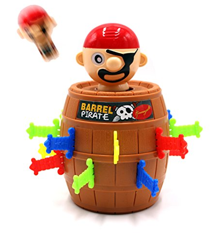 (FIVOENDAR Pirate Funny Barrel Novelty Toy Bucket for Kids and Adults Lucky Stab Toys Game with Breathtaking Curious and Interesting - Great Size for Travel Party Gathering (Cool New))