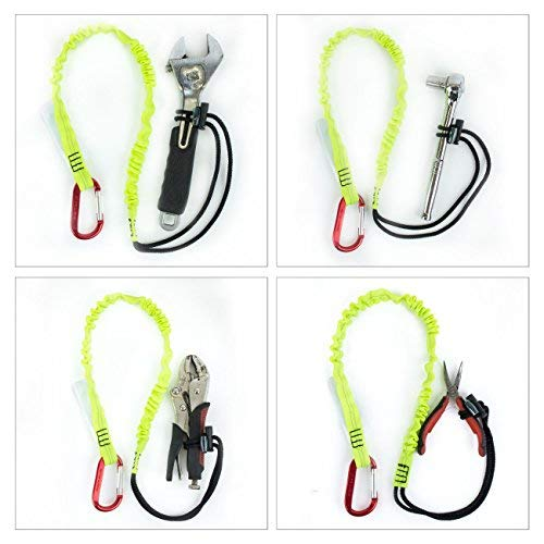Troy Safety SPTOOL01 3ft Tool Lanyard with Single Carabiner (Pack of 3, Lime) by Troy Safety (Image #5)