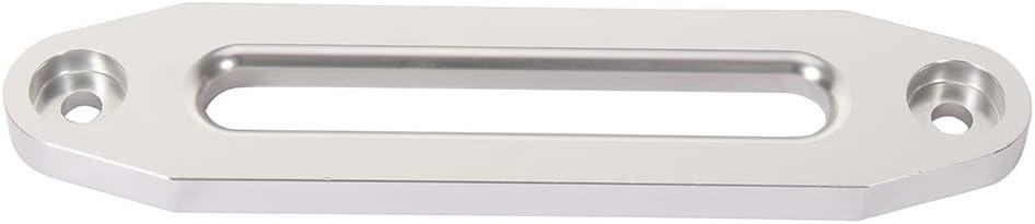 OCPTY 10 Univerasal Aluminum Hawse Fairlead Silver for Synthetic Winch Rope Cable Line Polished ATV UTV Winch Hawse Fairlead 8000-15000 LB