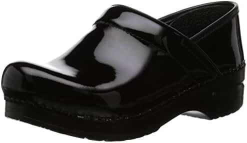 Dansko Women's Professional Leather, Black Patent