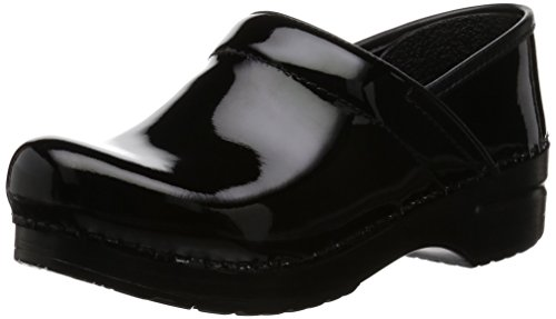 Dansko Women's Professional Patent Leather Clog,Black Patent,37 EU / 6.5-7 B(M) US