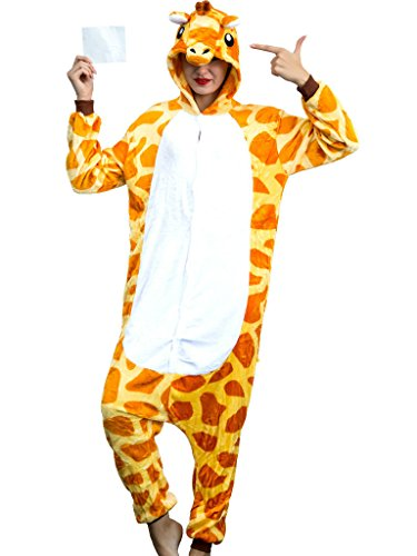Adult Giraffe Onesie for Women Halloween Costumes Men Teens Girls Animal Pajamas for $<!--$29.99-->