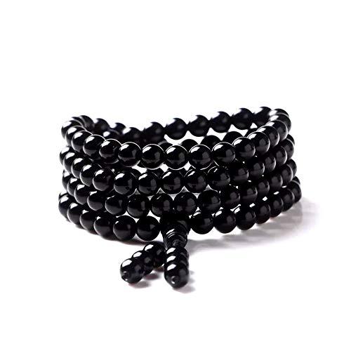 Bogo Arty Men Women 108 Obsidian Crystal Prayer...