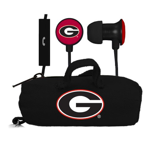 Georgia Bulldogs Headphone (NCAA Georgia Bulldogs Scorch Earbuds and Mic Clamshell with)