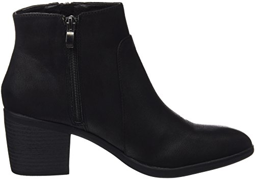 Mtng Collection 51599 - Botas cortas con tacón para mujer Negro (Karma Black)