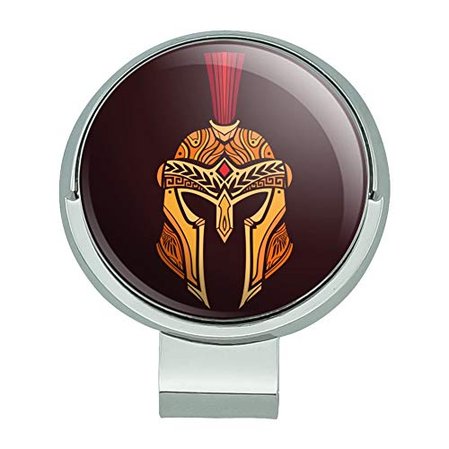 (GRAPHICS & MORE Trojan Greek Spartan Warrior Helmet Gold and Red Golf Hat Clip with Magnetic Ball)