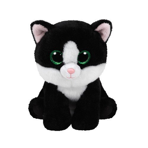 Ty Beanie Babies Ava - Black & White Cat