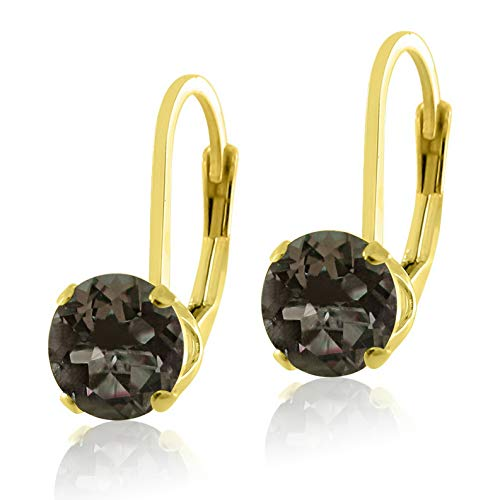 Campton Gold Over Sterling Silver .925 Genuine Natural Gemstone Lever Back Earrings | Model ERRNGS - 14183 | ()