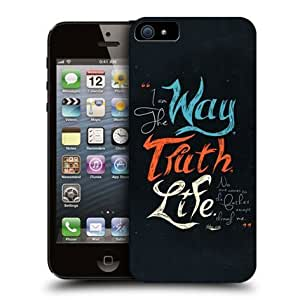 Cerhinu Head Case Way Truth Life Christian Typography Back Case Cover For Apple iPhone 5