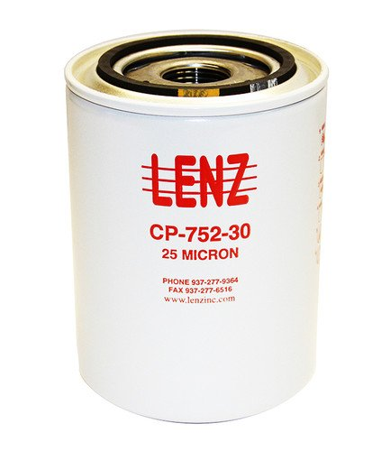 "Lenz Replacement Filter Element CP-752-10: 10 Micron, 20 Max GPM, 200 Max PSI, 1""-12 UNF Thraed Size, 221-005, 221-008, 221011 by LENZ"