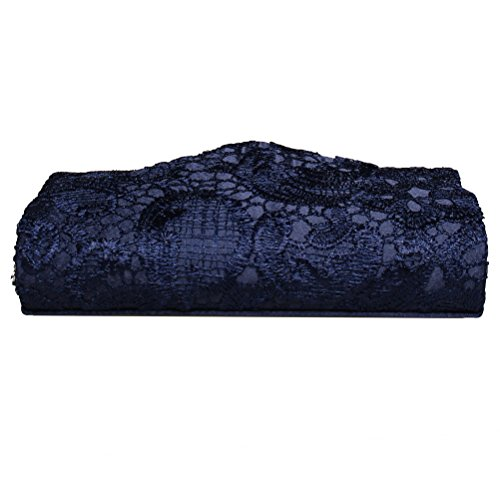 Occasions Blue Wedding Envelope Floral Clutch Clutch Elegant Womens Parties Envelope Lace and Handbags For Lace Blue Purses SUMAJU fnSxqBZTq