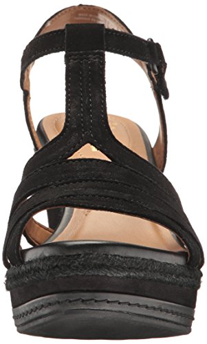 Zia Suede Women's Wedge Clarks Reign Sandal Black 1Hn7qwp