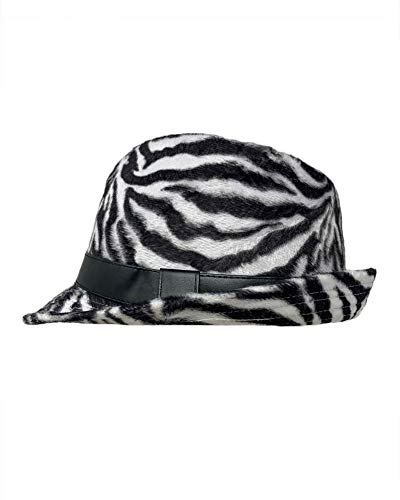 Zebra Print Hats (The Hatter Zebra Print Stretch Flannel Fedora with Pu Band)