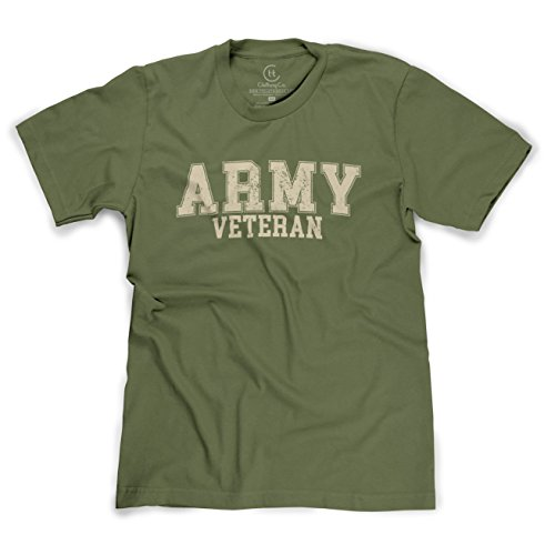 United States Army Veteran Distressed Military Pride USA T-Shirt - (Military Green) Medium