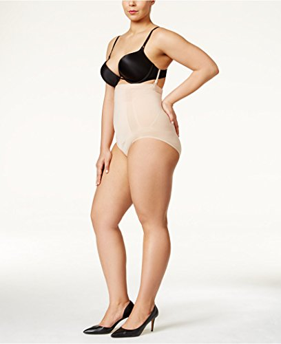 SPANX Plus Size OnCore Firm Control High-Waist Brief, 1X, Soft Nude