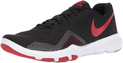 Nike Men's Flex Control II Cross Trainer, Black/Gym red-White, 10.5 Regular US