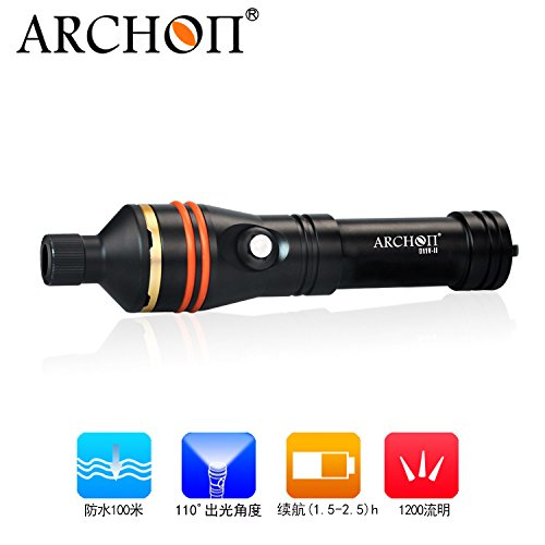 ARCHON D11V II / D11V-II Diving Torch CREE XM-L2 U2 LED max 1200LM 110 degree Angle beam 100 Meters underwater dive flashlight by ARCHON (Image #5)