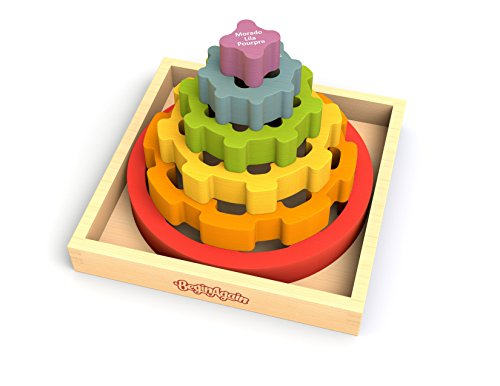 BeginAgain Gear Stacker - Learn Color Names and Spatial Awareness - 2 and Up