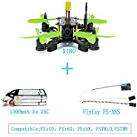 QWinout X180 HD 700TVL CAM BNF Assembled RC Racing Drone with Hobbywing ESC FPV OSD Flysky A8S RX DIY Quadcopter No Remote