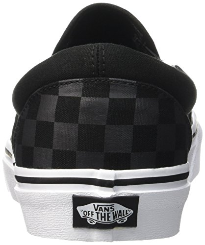 276 checkerboard Noir Baskets pewter Classic Mixte Basses Slip Vans Black Adulte on WUfwqB7a7