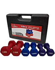 Fitness Minutes Vinyl Dipping Dumbbell Set, 10 Kg, DM10-V