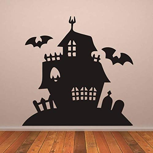 LJTSDA Haunted Mansion Halloween Wallpaper Removable Decals Living Room Art Decor Vinyl Wall Stickers Nursery Room 42X42Cm