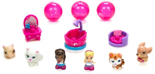 Blip Squinkies Barbie Bubble Pack – Series 5 – Posh Pet with Tiny Toys, Baby & Kids Zone