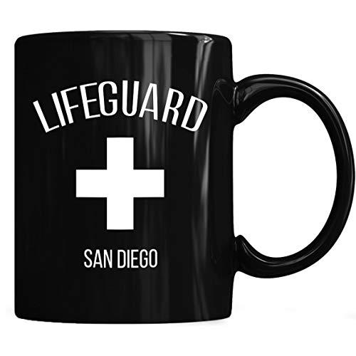 Lifeguard San Diego Mug, Lifeguard San Diego Mug Coffee Mug 11oz & 15oz Gift Black Tea Cups ()