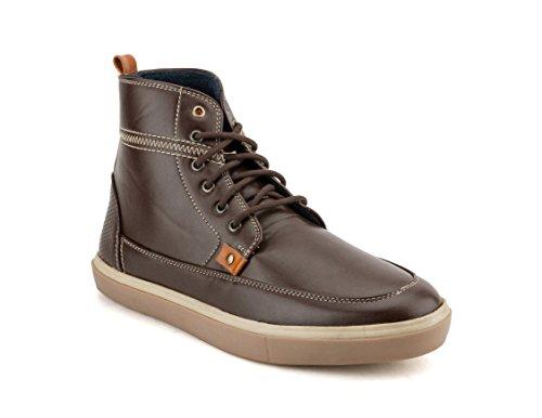 Gekko Mens Shoes-466 - Zapatos de Cordones de Material Sintético Para Hombre Marrón Marrón 44