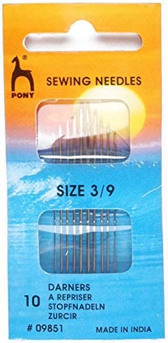Pony Gold Eye Sewing Needles Darners Size 1-5 Multi-Colour