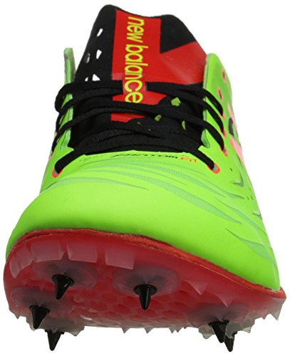 New Balance hombres del md800 V4 pista Spike zapatos Lime / Red