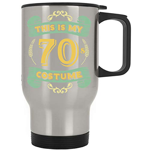 This Is My 70s Costume - Funny Halloween 70 Birthday Gag Gifts Idea Travel Mug