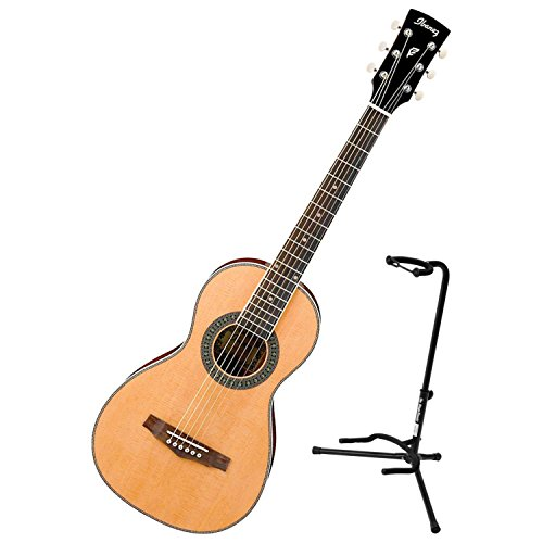 (Ibanez PN1NT Natural High Gloss PF Performance Series Parlor Acoustic Guitar w/ Stand)