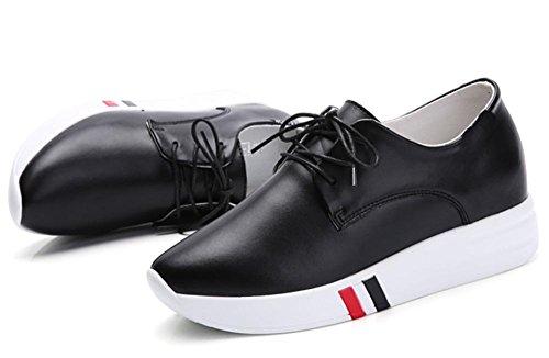 los zapatos del elevador Ms Spring gruesos zapatos escogen los zapatos calzado deportivo de las mujeres ocasionales con cordones corteza del mollete , US7.5 / EU38 / UK5.5 / CN38