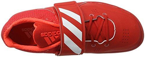 adidas Unisex-Erwachsene Adizero Discus/Hammer Throw Leichtathletikschuhe Rot (Red/Ftw White/Solar Red)