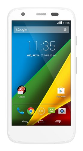 Motorola Moto G  Unlocked Cellphone, 8GB, White