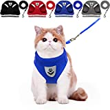 YujueShop Cat Harness and Leash Dog Harness Walking Adjustable Soft Mesh Pet Vest with Lead Re-Adjustable Pet Leash with Reflective Material and Metal Button Suit for Most Sizes of Pet (XS)