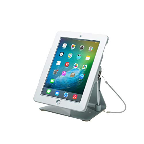 CTA Digital PAD-DASW Desktop Anti-Theft Stand for Tablets and Smartphones, White