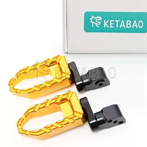 KETABAO 25mm Adjustable Wide BUZZ Rear Foot Pegs For Honda INTEGRA NC 700 + INTEGRA 750 + NC700 S + NC750 S 14-17 (Honda Nc 750 Integra)