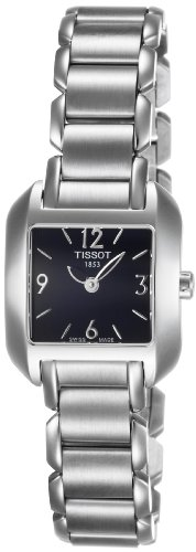 - Tissot Women's T02128552 T-Wave Black Dial Watch