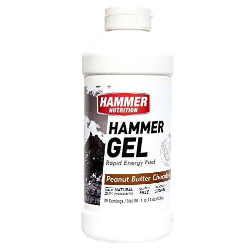 Hammer Nutrition Gel Flavor Peanut Butter-chocolate 26 Servings Bottle