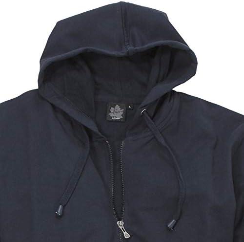 Ahorn Sportswear Blaue Basic Hoody Jacke Herren in großen Größen XXL bis 10XL