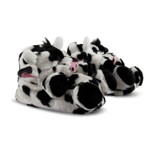 Footwear Sensation - Zapatillas de estar por casa para mujer negro negro negro - Cow Slippers