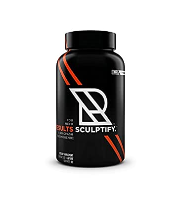 Results Nutrition Sculptify No Crash Thermogenic Fat Burner for Heightened Focus, Drive and Energy - 60 Capsules